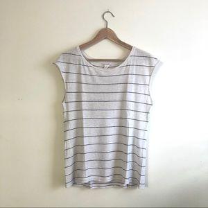 Club Monaco Size XS Cap Sleeve Stripe T-shirt